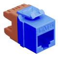 ICC MODULE, CAT 6c High Density (HD) Category 6 modular jacks, RJ-45 keystone jacks BLUE Stock# IC1078F6BL