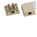 Suttle Simplex Pre-wired 8-conductor Jack Assembly, Non-keyed, USOC Wiring, Screw Terminals Part# 625A28NK-XX