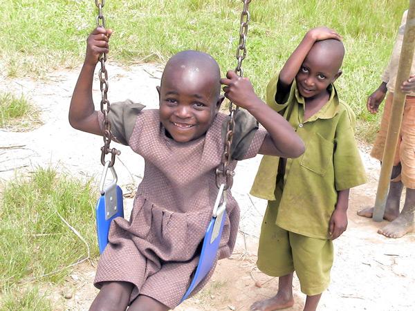 SeeeMe Institute swing set refurbishing project in Uganda