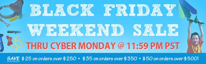 Black Friday through Cyber Monday Sale