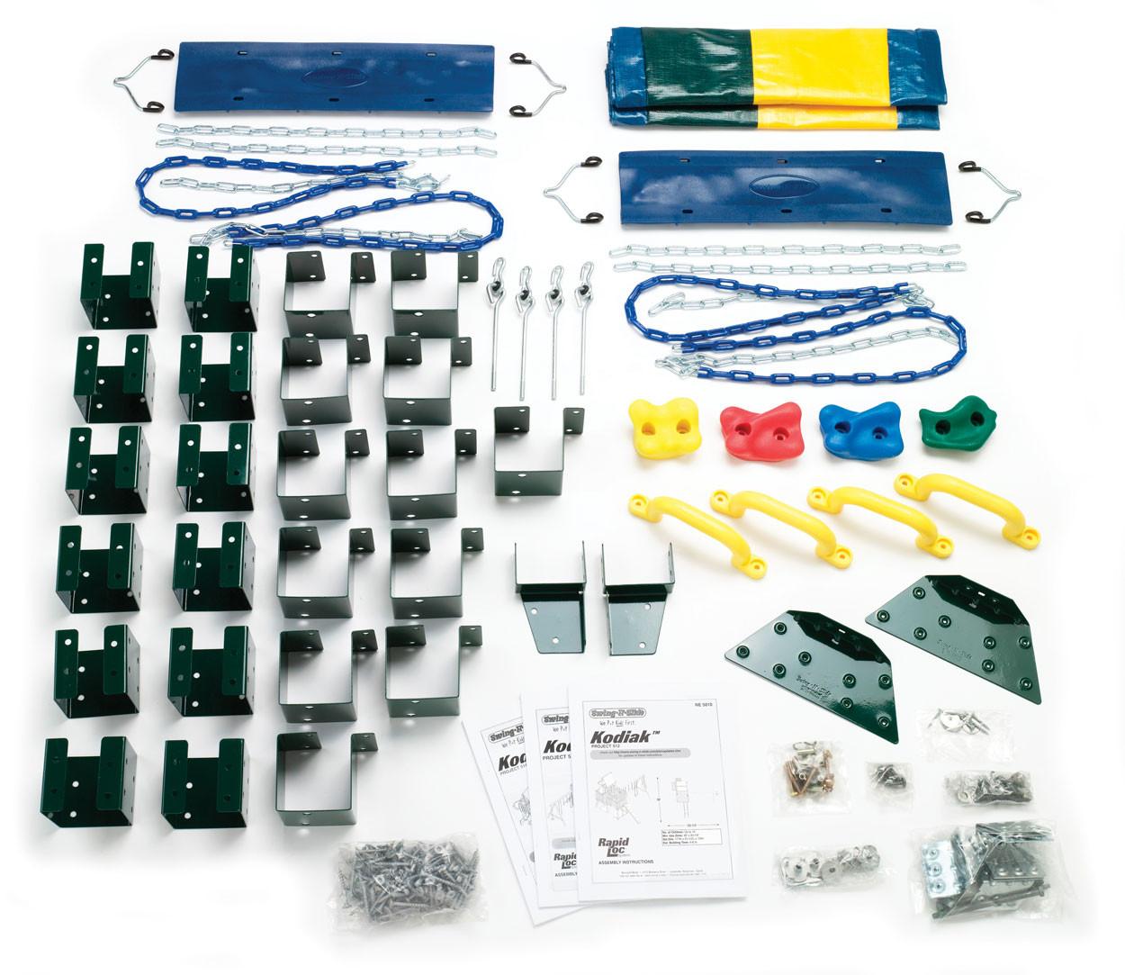 Kodiak Swing Set Kit Contents