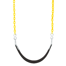 "Basic Commercial Belt Swing Seat with 5'6"" Plastisol Chain (S-022)"