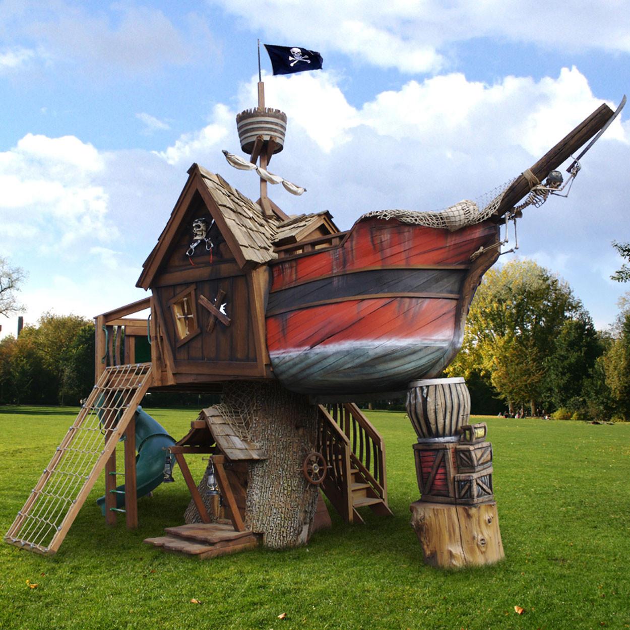 Daniels Wood Land Scallywag Sloop Tree Playhouse