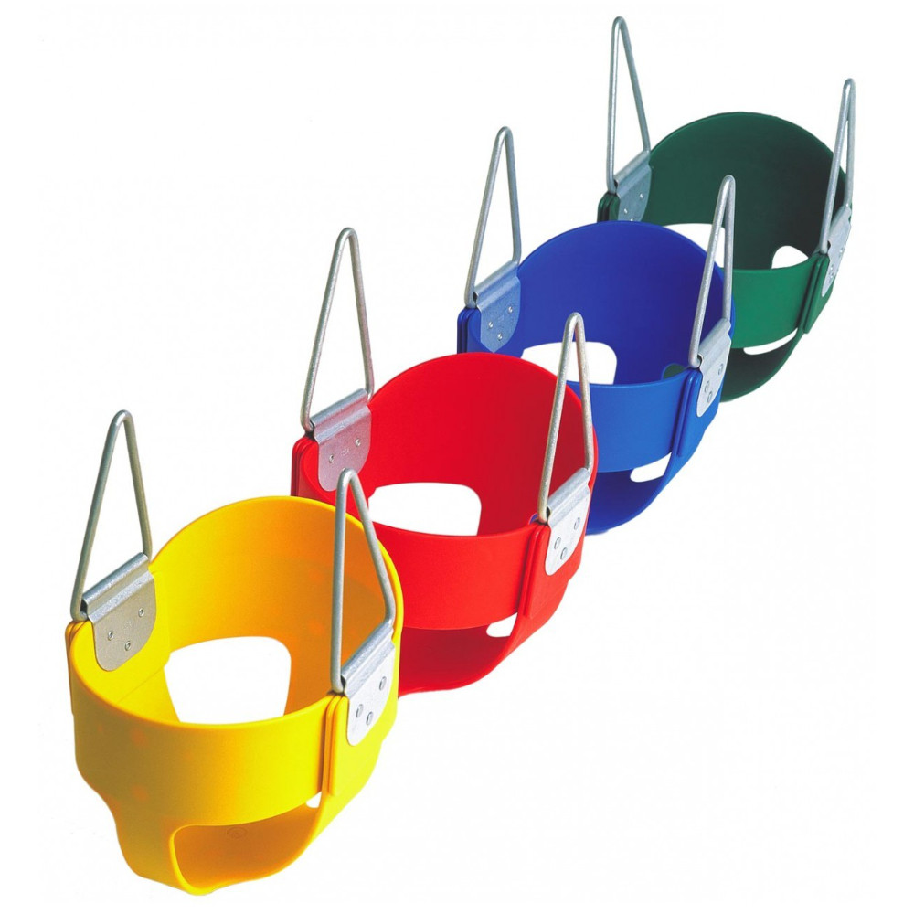 """Residential Full Bucket Swing Seat with 5'6"""" Fully Coated Chain (S-265R)"""