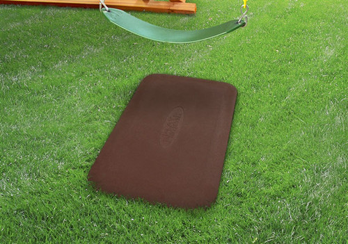 Rubber Swing / Slide Mat  - Red