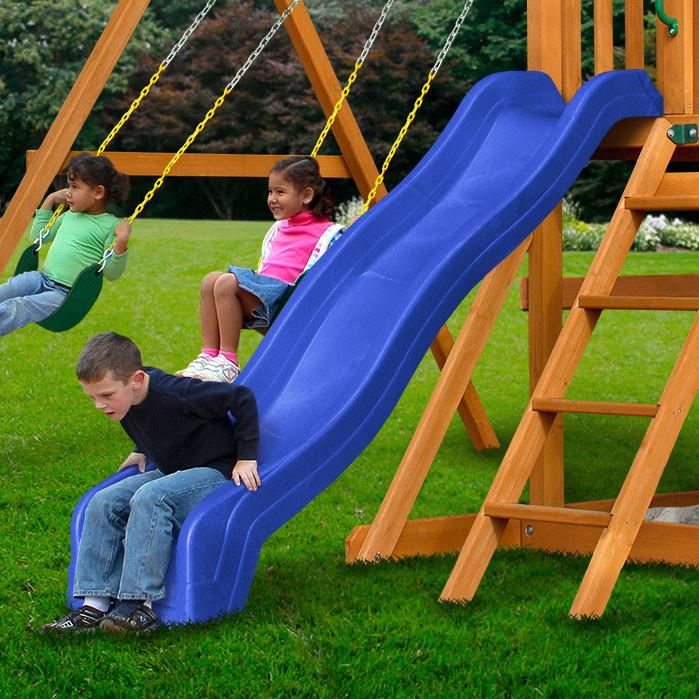 8 ft Wave Slide - Blue