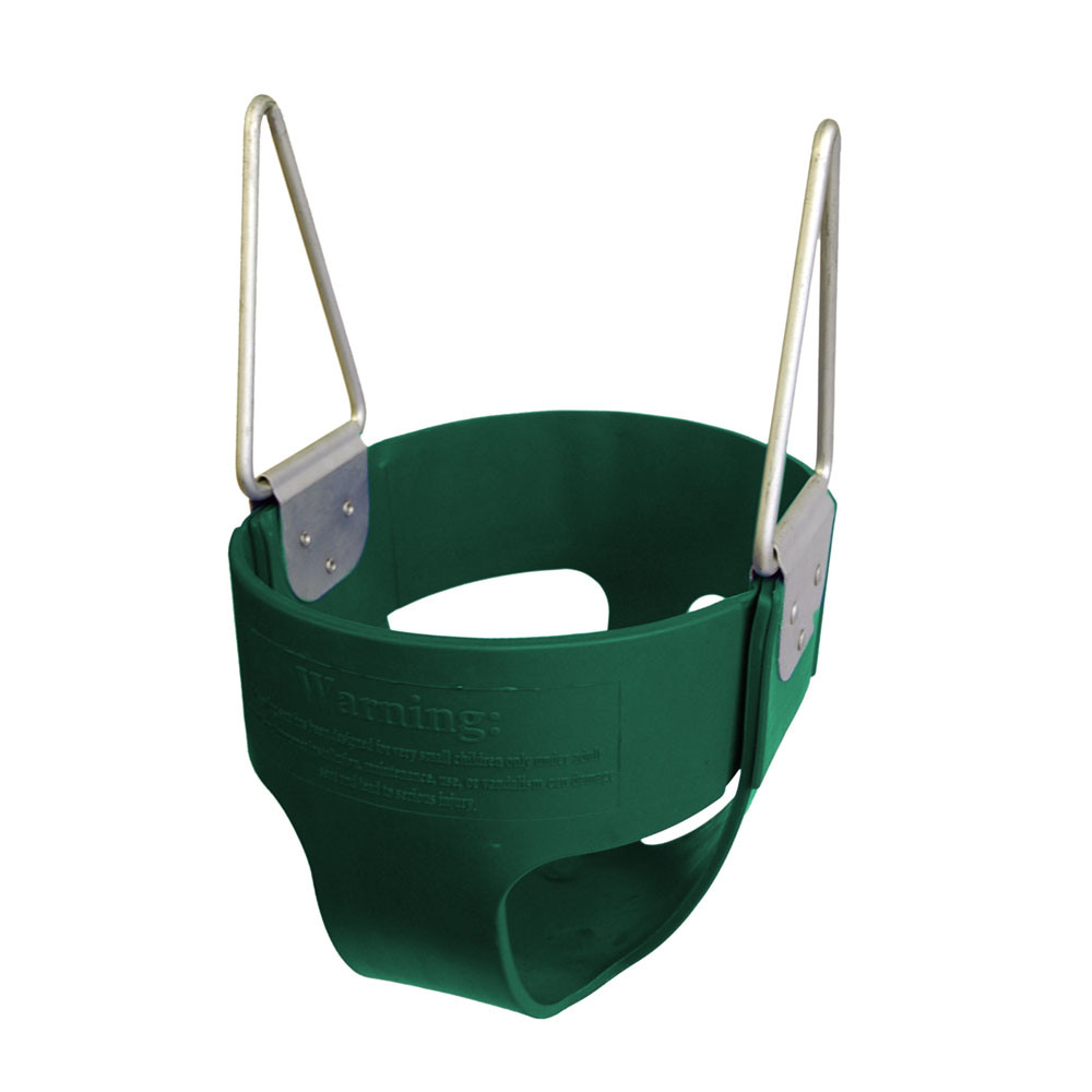 Commercial Rubber Full Bucket Swing Seat - Green