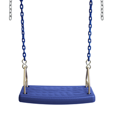 "Molded Flat Swing Seat with 8'6"" Plastisol Chain (S-174)"