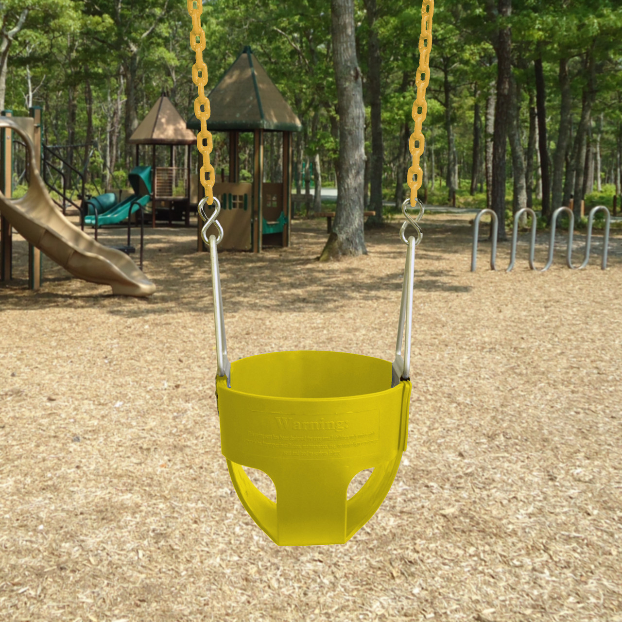 Commercial Full Bucket Swing Seat with Plastisol Chain