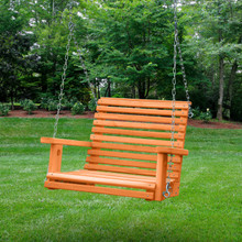 Cedar Babysitter Swing with Amber Stain - 04-0019-A