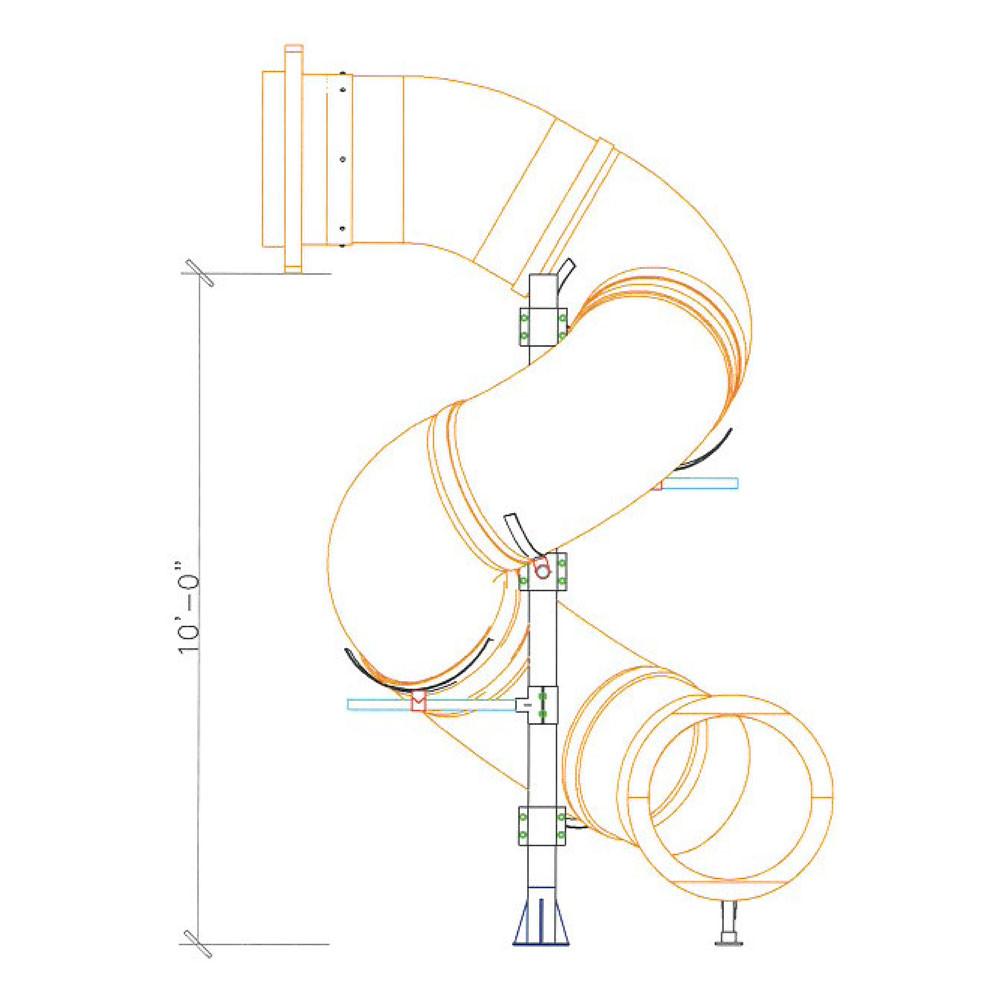 10 Spiral Tube Slide Swingsetmall Com