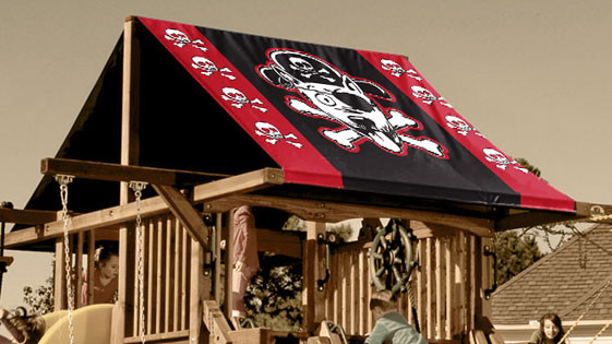 Pirate Dog Playset Roof Tarp Swingsetmall Com