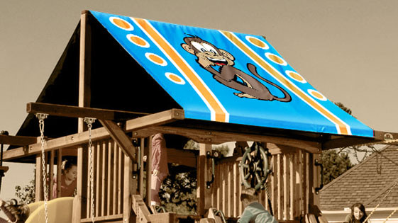 Monkey Playset Roof Tarp