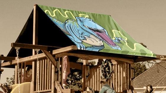 T Rex Dino Playset Roof Tarp Swingsetmall Com