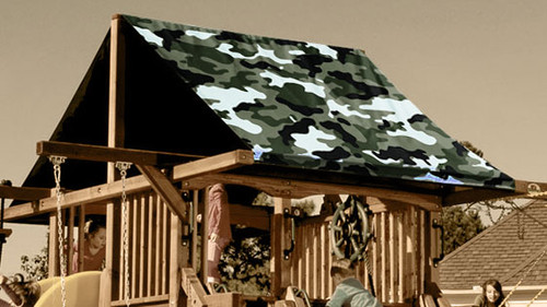 Green Camouflage Playset Roof Tarp