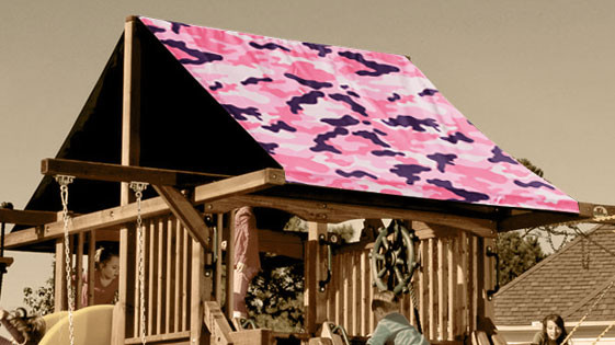 Pink Camouflage Playset Roof Tarp