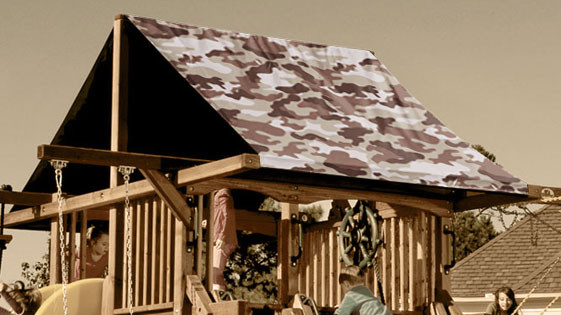 Tan Camouflage Playset Roof Tarp