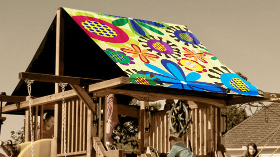 Flower Power Playset Roof Tarp