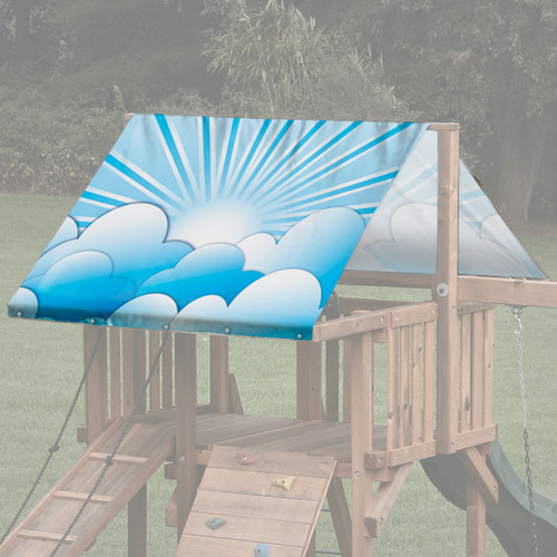 Blue Clouds Playset Roof Tarp