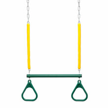 "Trapeze Bar and Triangle Rings with 3'4"" Soft Grip Chain"