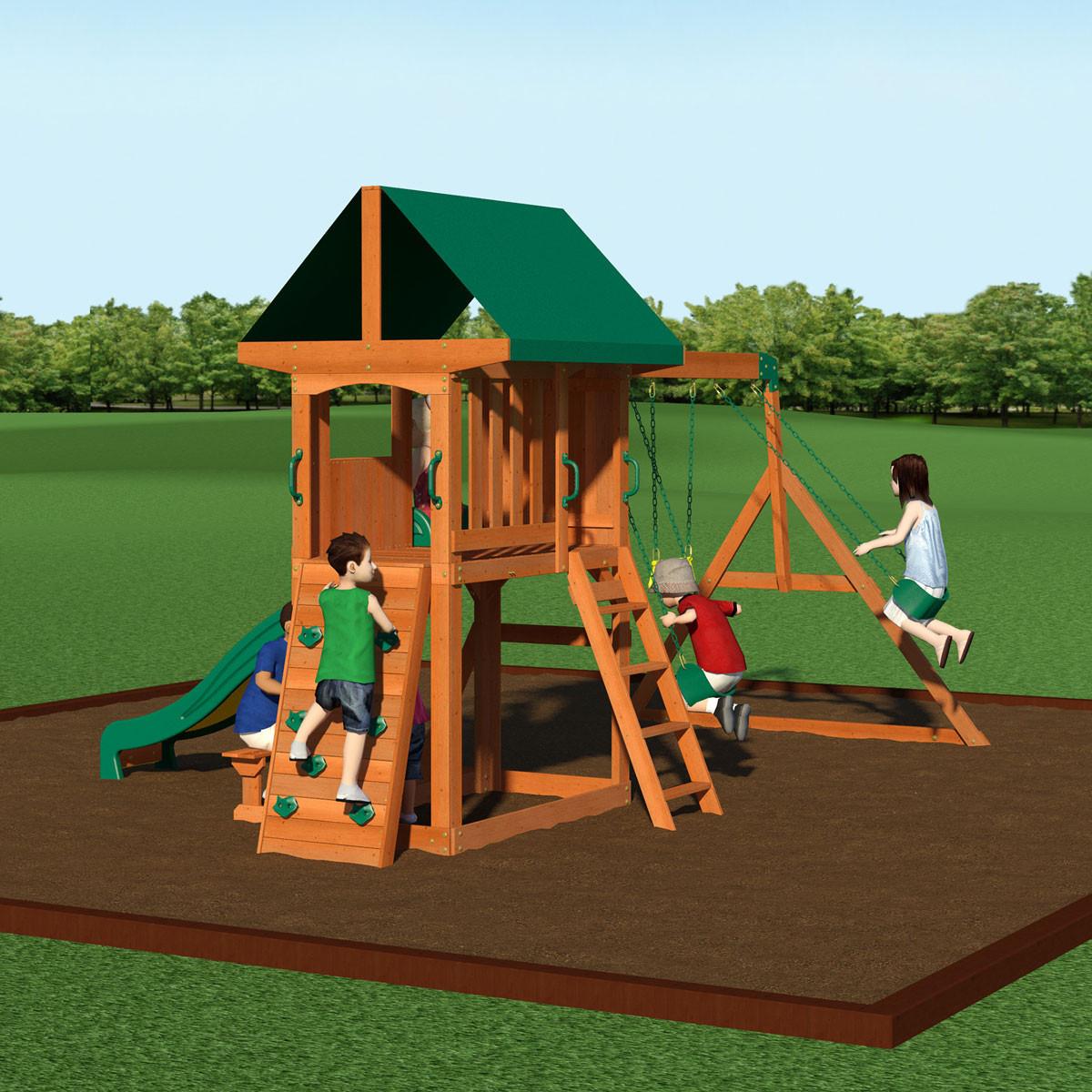 Gentil ... Somerset Wooden Swing Set (65012com) ...