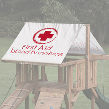 Nurse's First Aid Blood Donations Playset Roof Tarp