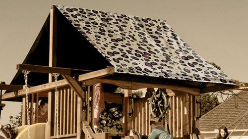 Brown Cheetah Playset Roof Tarp