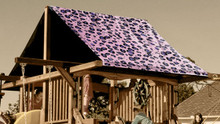 Pink Cheetah Playset Roof Tarp