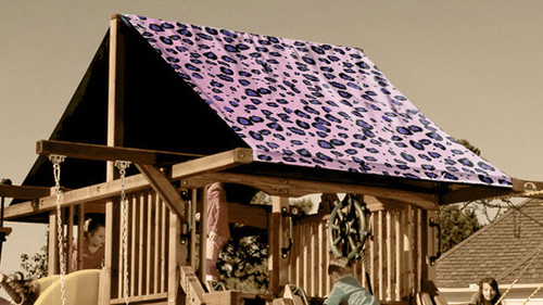 Pink Cheetah Playset Roof Tarp