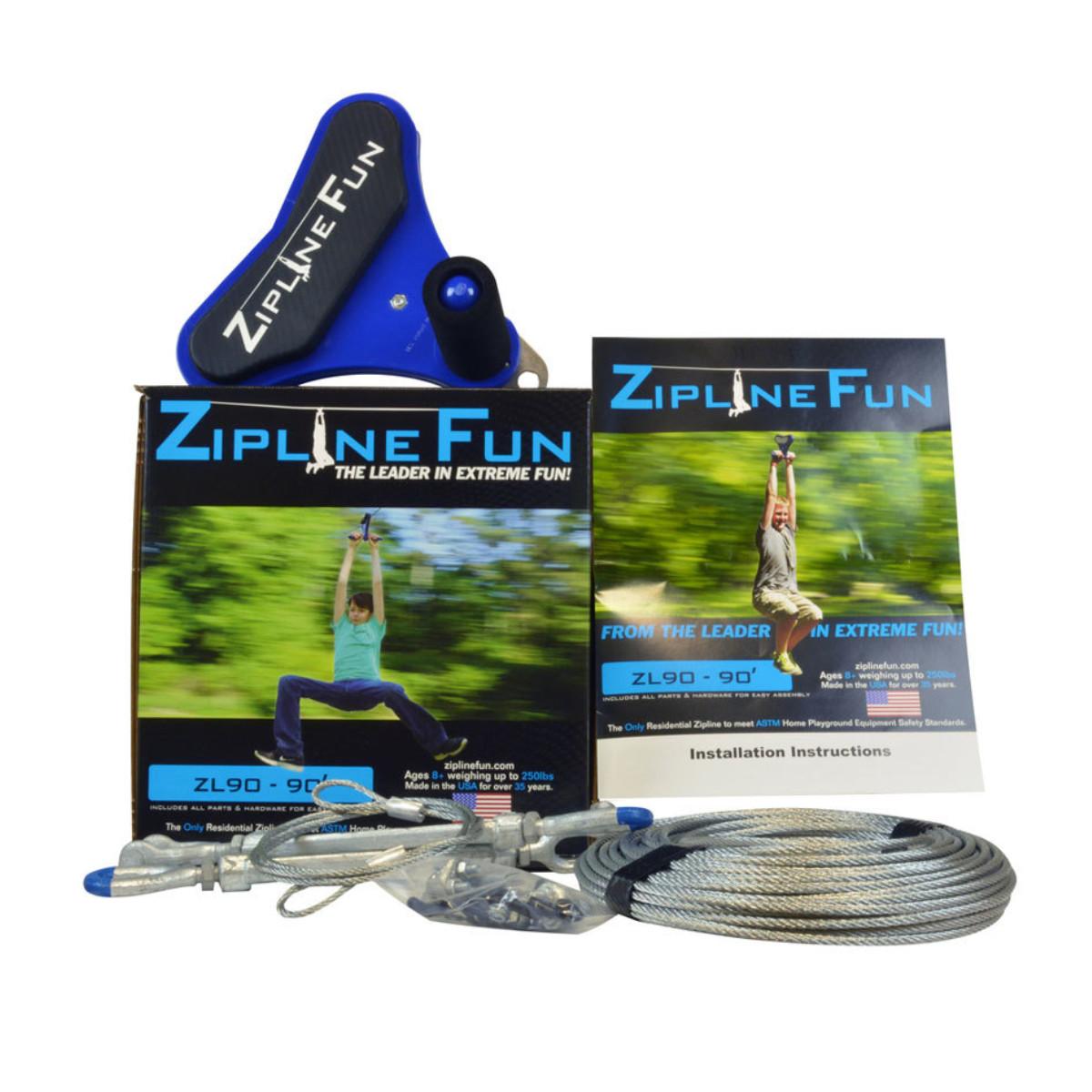 Zipline Fun 90 ft Zip Line (ZL90)