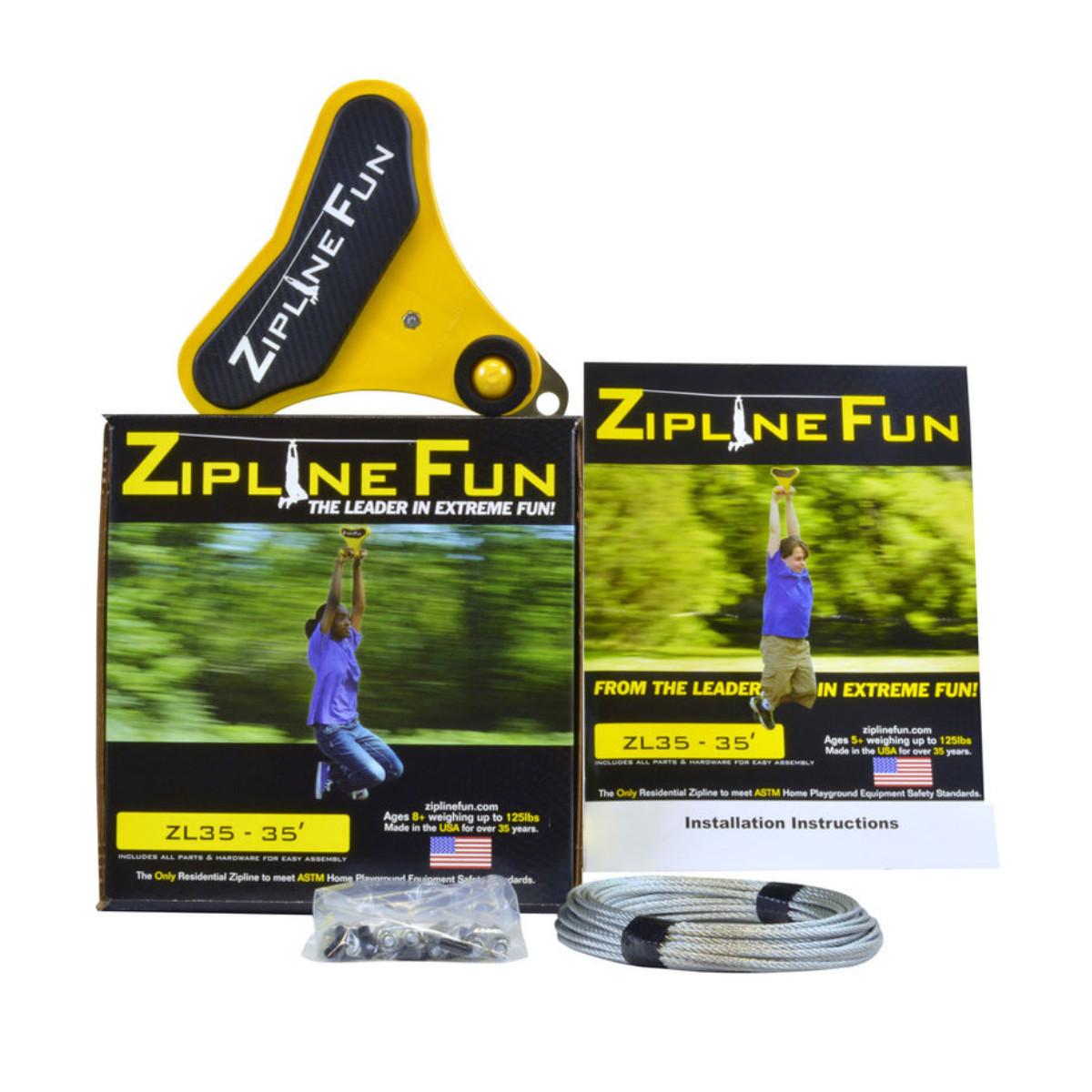Zipline Fun 35 ft Zip Line (ZL35)