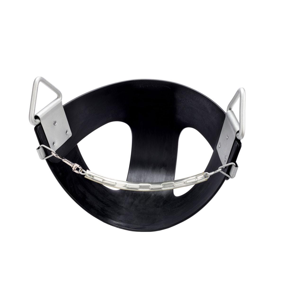 Commercial Rubber Half Bucket Swing Seat - Black