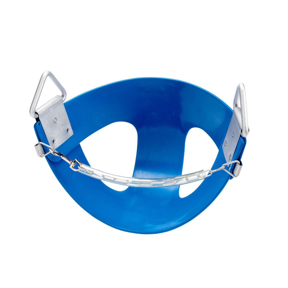 Commercial Rubber Half Bucket Swing Seat - Blue