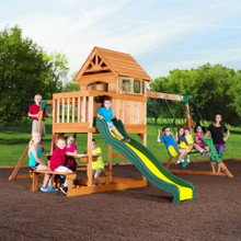 Springboro Wooden Swing Set (40014com)