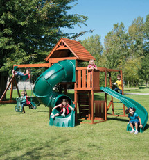 Grandview Twist Complete Swing Set PB-8272T Children Playing
