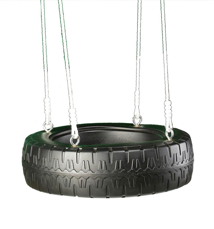 Classic Tire Swing with Rope
