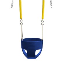 "Commercial Full Bucket Swing Seat with 8'6"" Soft Grip Chain (S-278)"