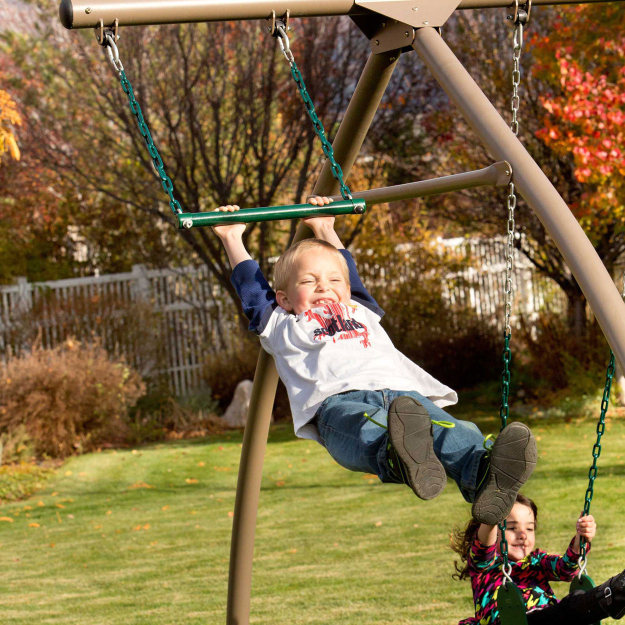 Lifetime Adventure Tower Playset - Trapeze Swing