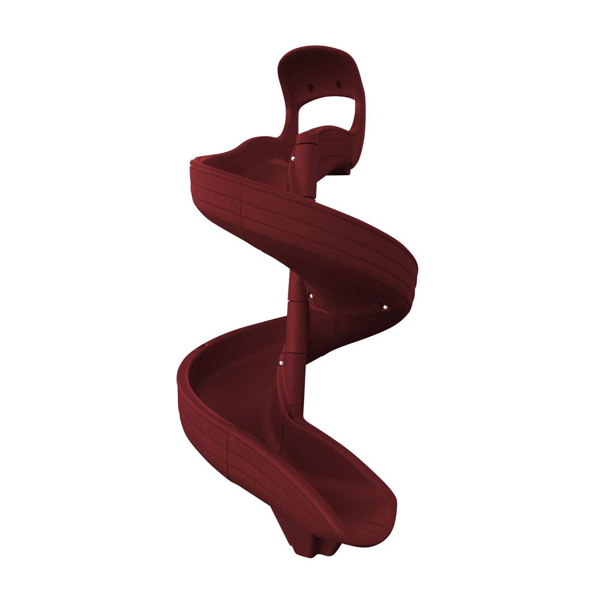 Super Open Spiral Slide - Burgundy