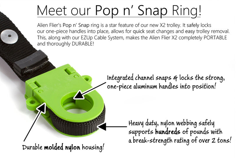 Alien Flier Pop n' Snap Ring