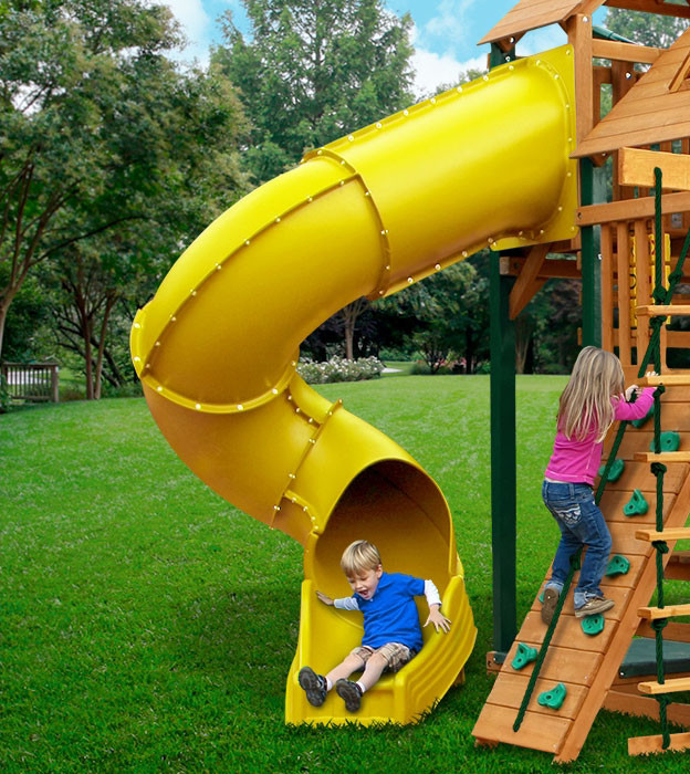 7 ft Turbo Tube Slide (03-0019) - Yellow