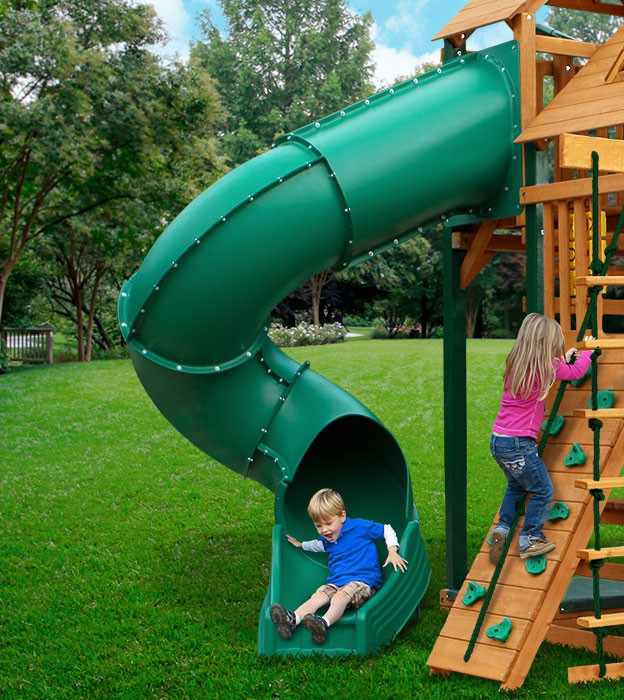 7 ft Turbo Tube Slide (03-0019) - Green
