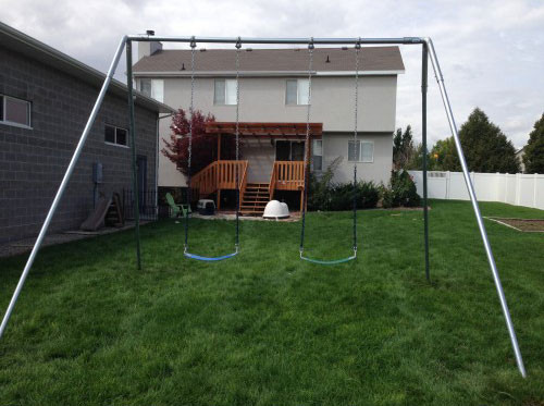 Metal A-Frame Swing Set with 2 Swings (CP-AF20)