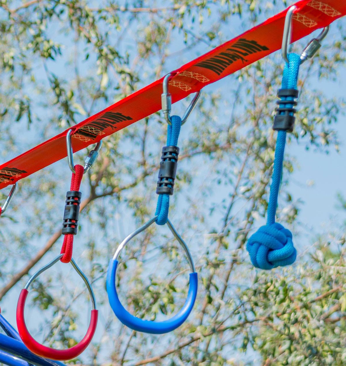Slackers NinjaLine 36 ft Intro Kit with 7 Hanging Obstacles (SLA-788)