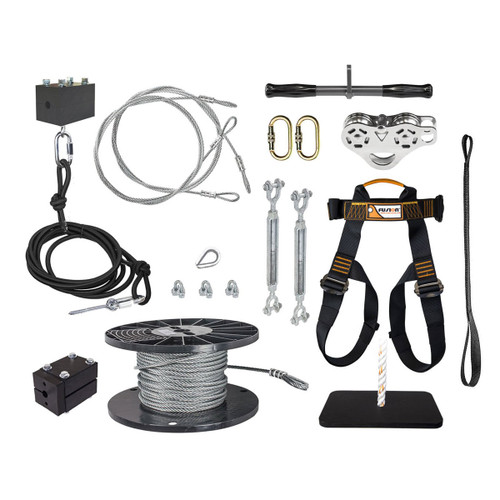 Ultimate Torpedo Zip Line Kit with Seat & Harness