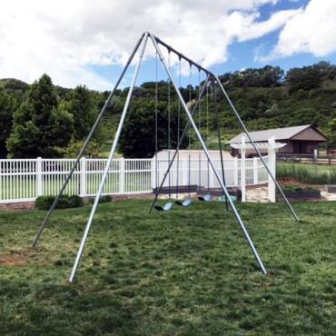 Metal A-Frame Swing Set with 3 Swings (CP-AF30)