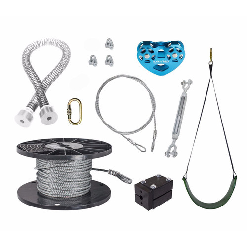 Spring Stop Zip Line Kit with Seat