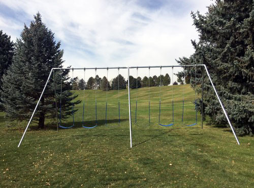 Metal A-Frame Swing Set with 6 Swings (CP-AF60)