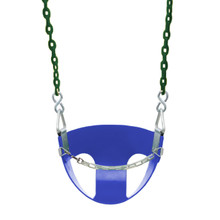 "Commercial Half Bucket Swing Seat with 5'6"" Plastisol Chain (S-142)"