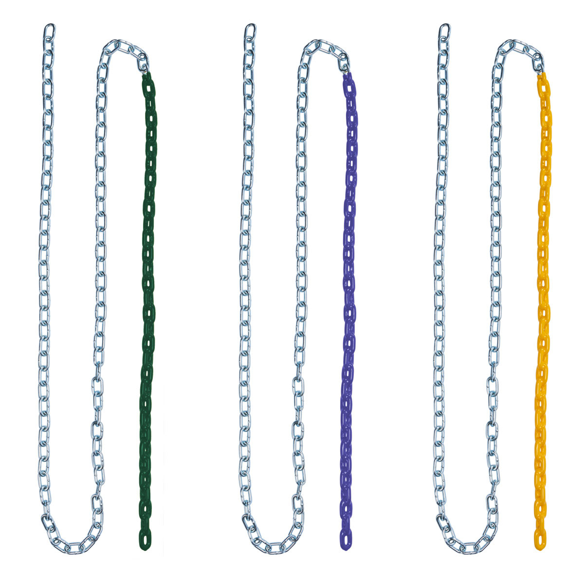 Plastisol Coated Swing Chain - Blue, Green, Yellow